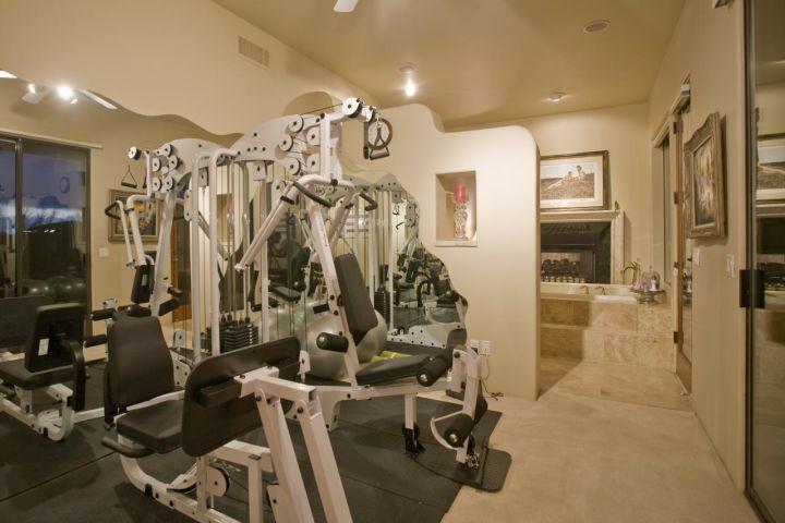 Holiday Gym & Master Tub Built by Carmel Homes Design Group LLC