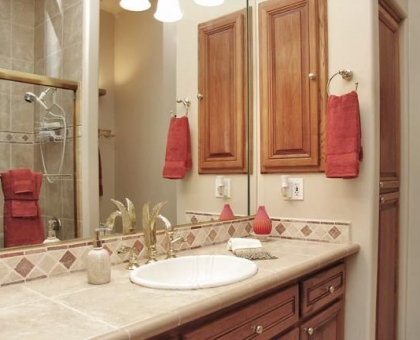 Holiday Guestroom Bathroom Built by Carmel Homes Design Group LLC
