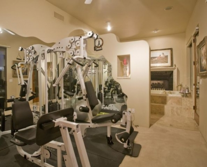 Holiday Gym & Master Tub Built by Carmel Homes Design Group LLC