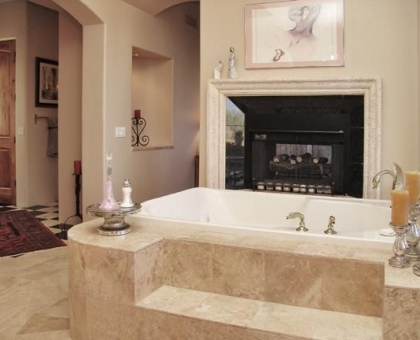 Holiday Master Bath Room Tub Built by Carmel Homes Design Group LLC