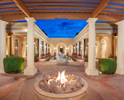 Terbush 2 Back Exterior Ramada with Firepit by Carmel Homes Design Group