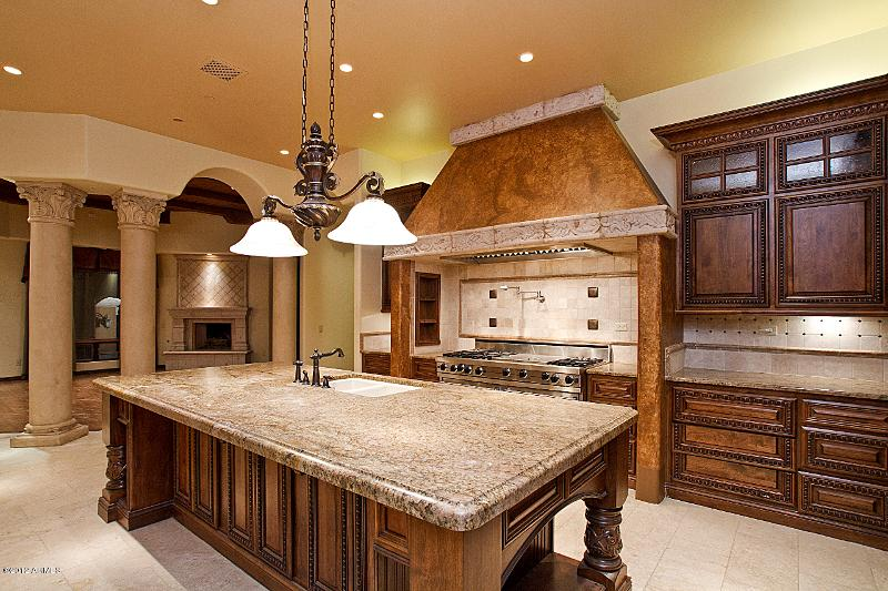 13 lot 171 Kitchen 3 Old World Home Built by Carmel Homes Design Group LLC